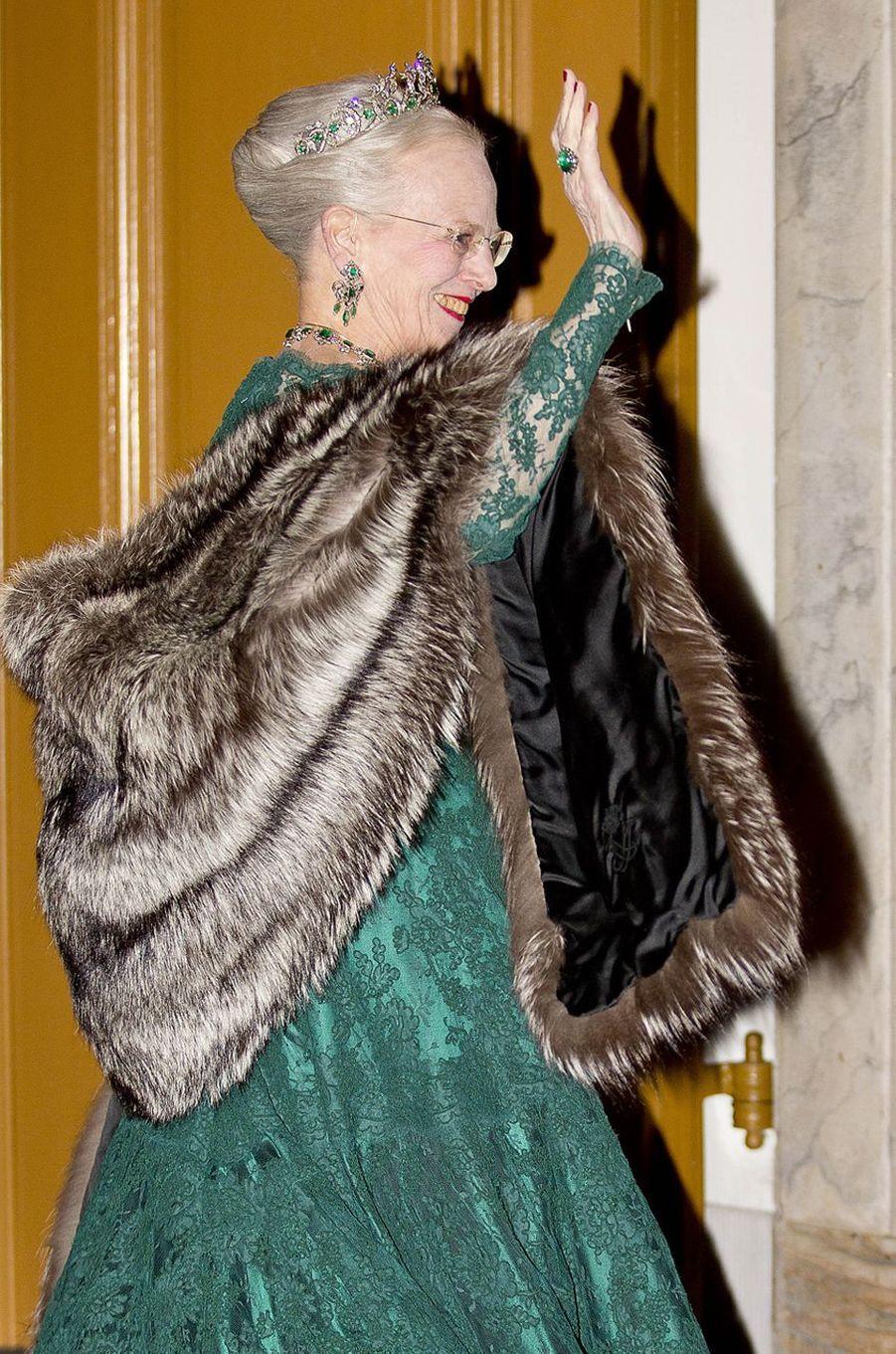 La reine Margrethe II de Danemark à Copenhague, le 1er janvier 2018