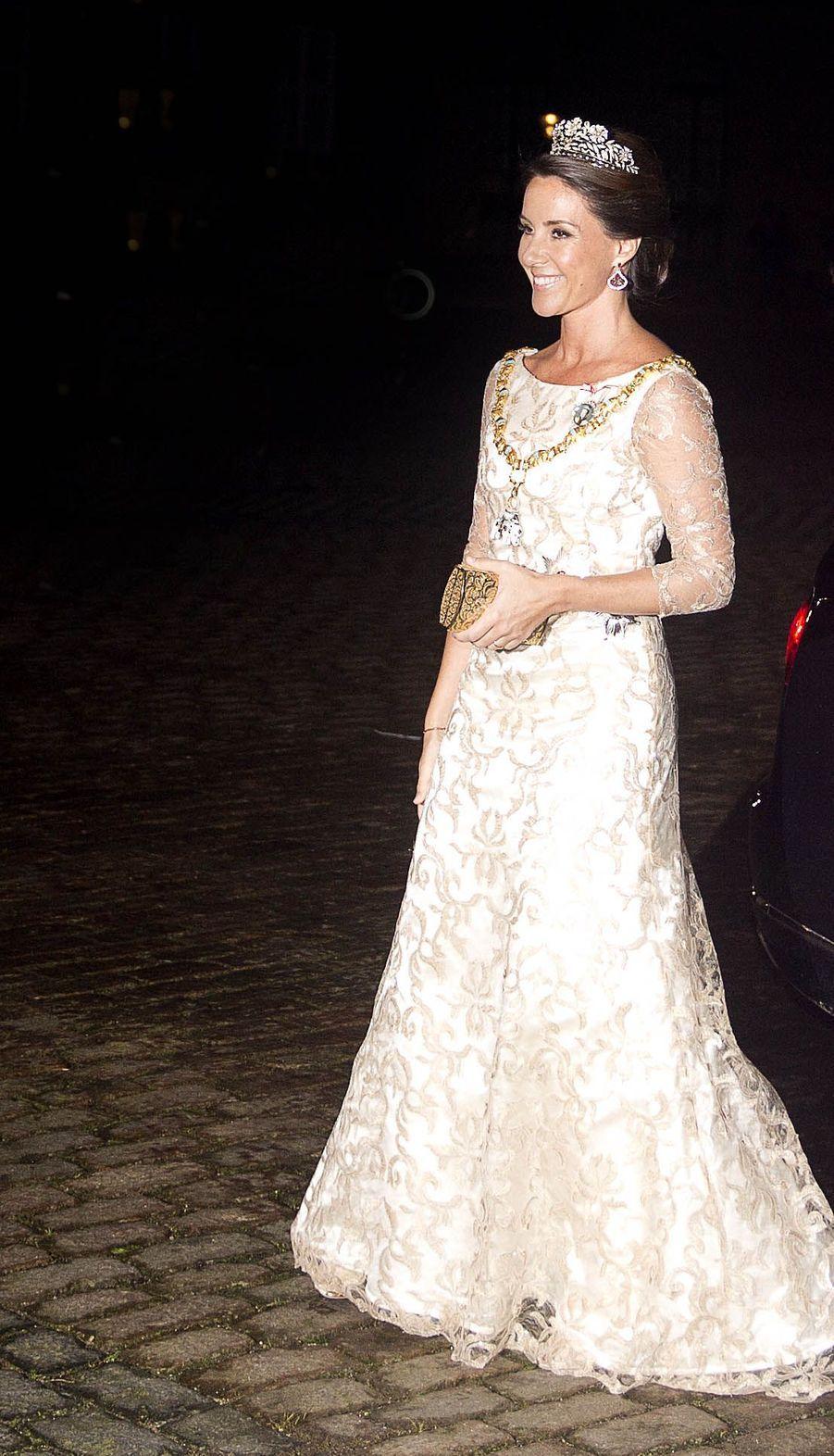 La princesse Marie de Danemark à Copenhague, le 1er janvier 2018