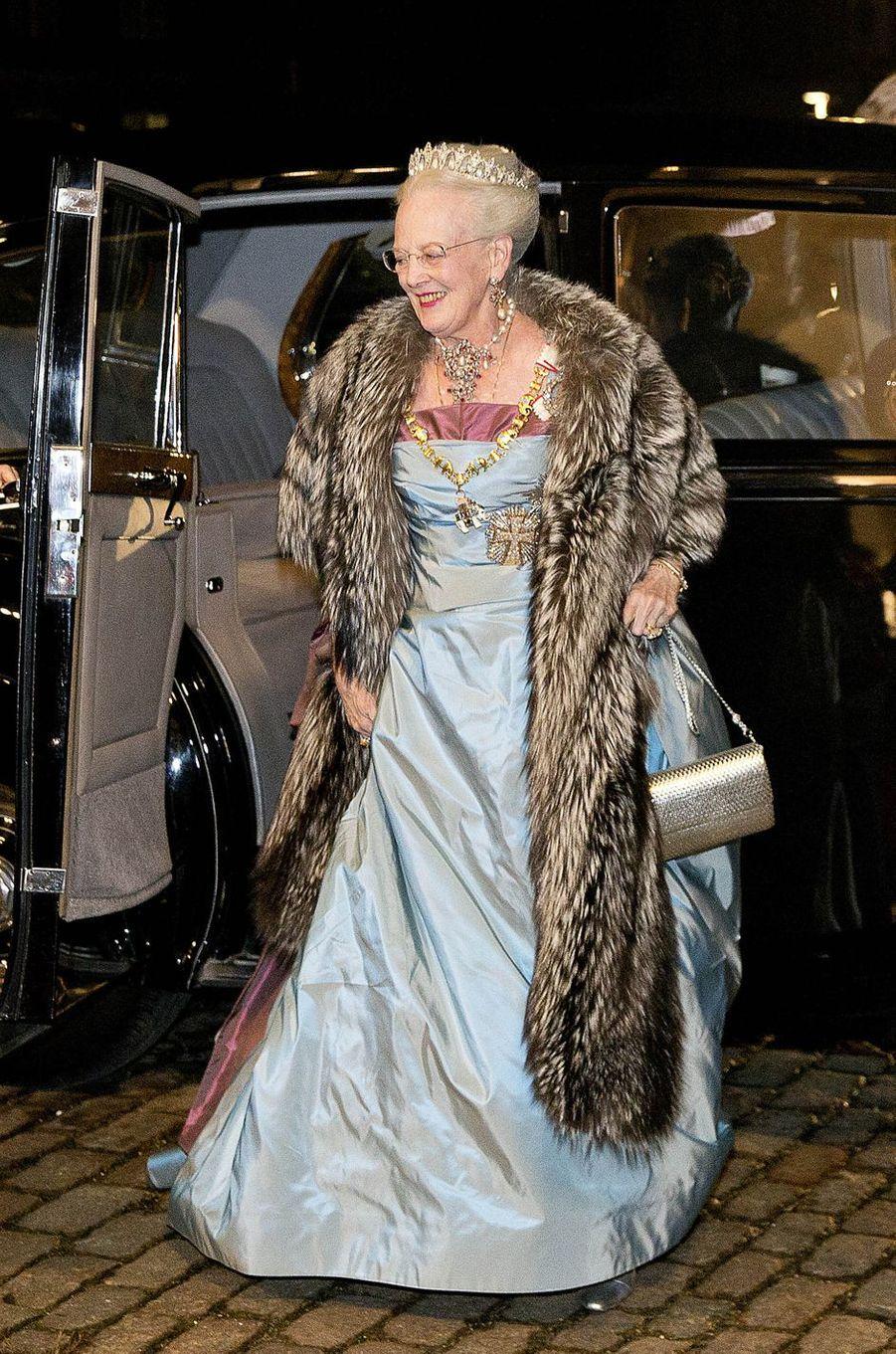 La reine Margrethe II de Danemark à Copenhague, le 1er janvier 2017