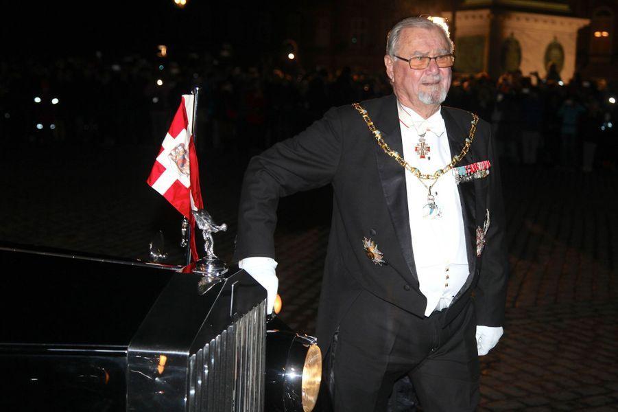Le prince Henrik de Danemark à Copenhague, le 1er janvier 2017