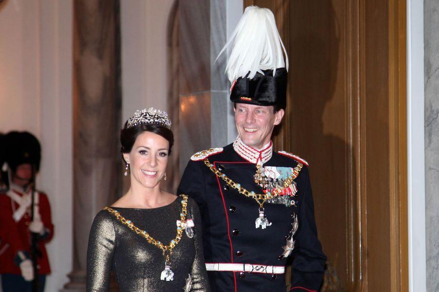 La princesse Marie et le prince Joachim de Danemark à Copenhague, le 1er janvier 2017