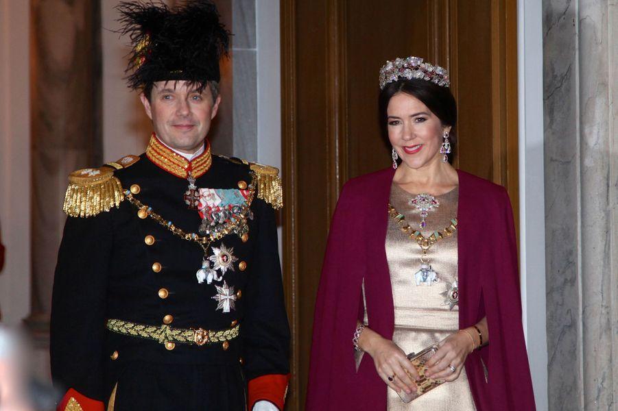 La princesse Mary et le prince Frederik de Danemark à Copenhague, le 1er janvier 2017