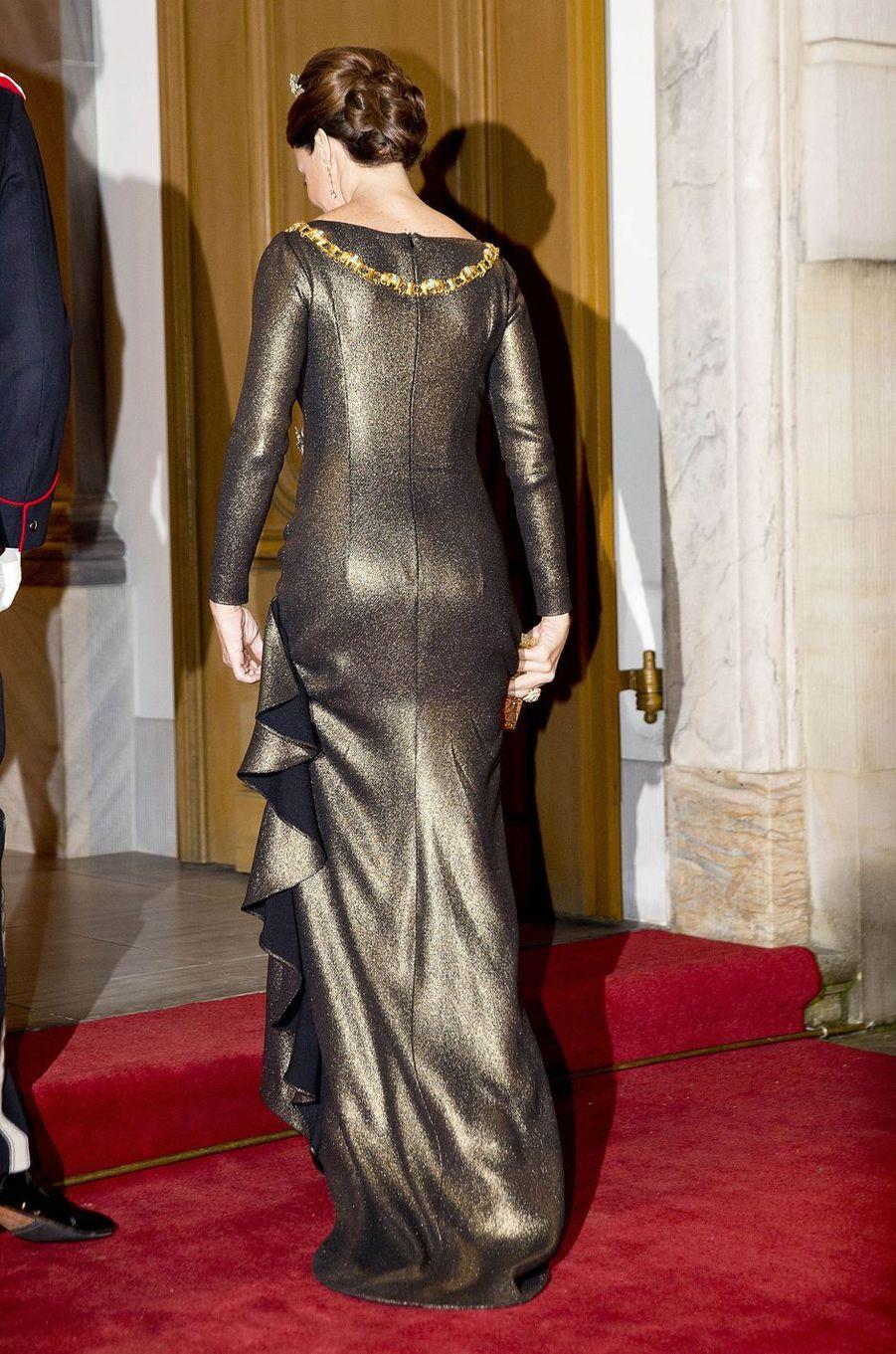 La princesse Marie de Danemark à Copenhague, le 1er janvier 2017