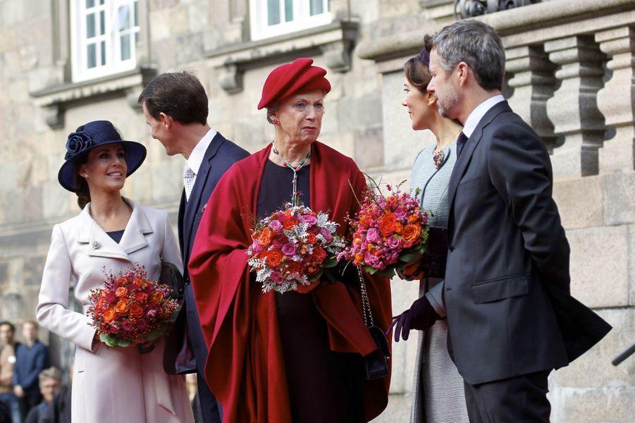 La famille royale de Danemark à Copenhague, le 3 octobre 2017