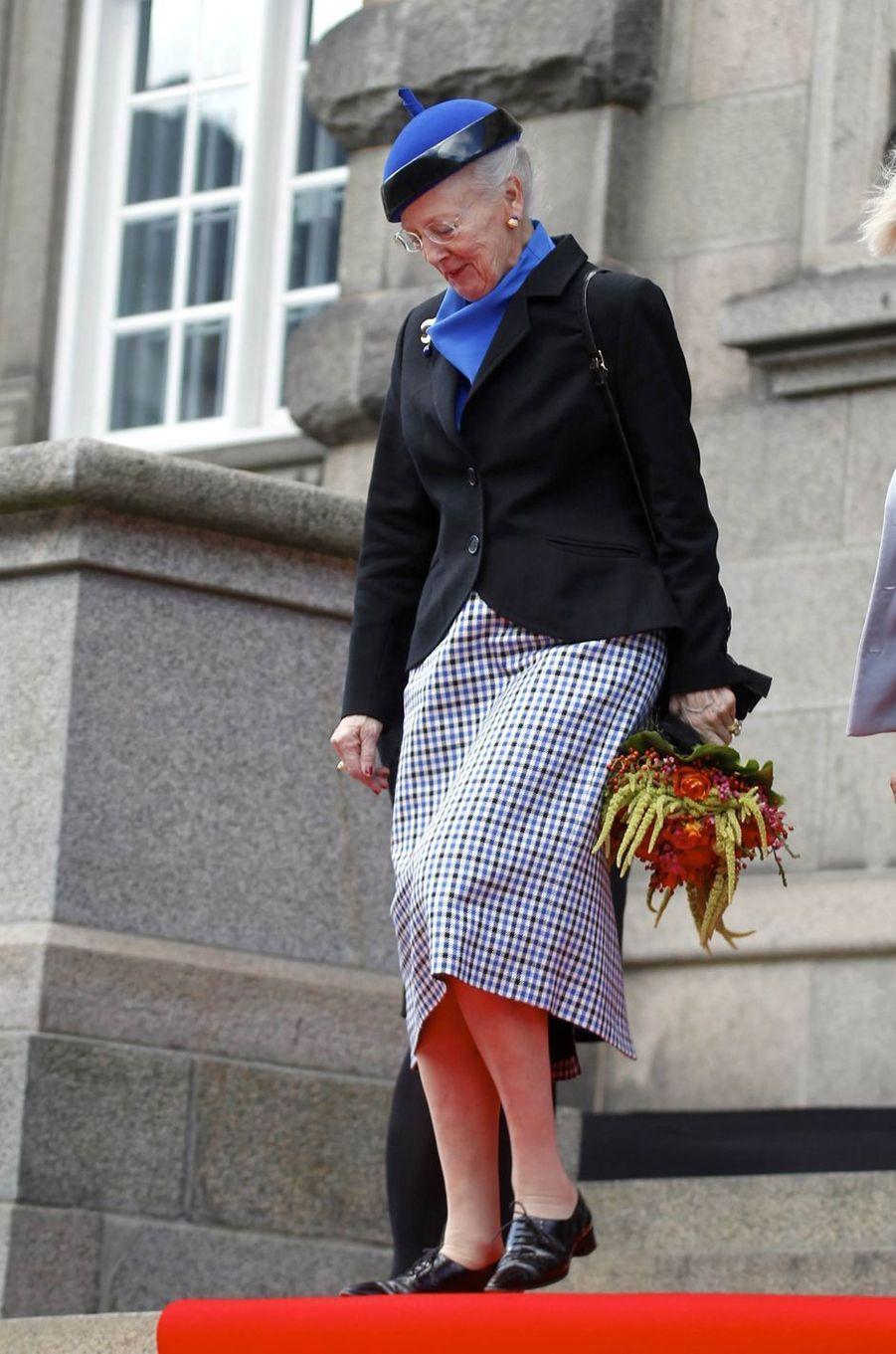 La reine Margrethe II de Danemark à Copenhague, le 3 octobre 2017