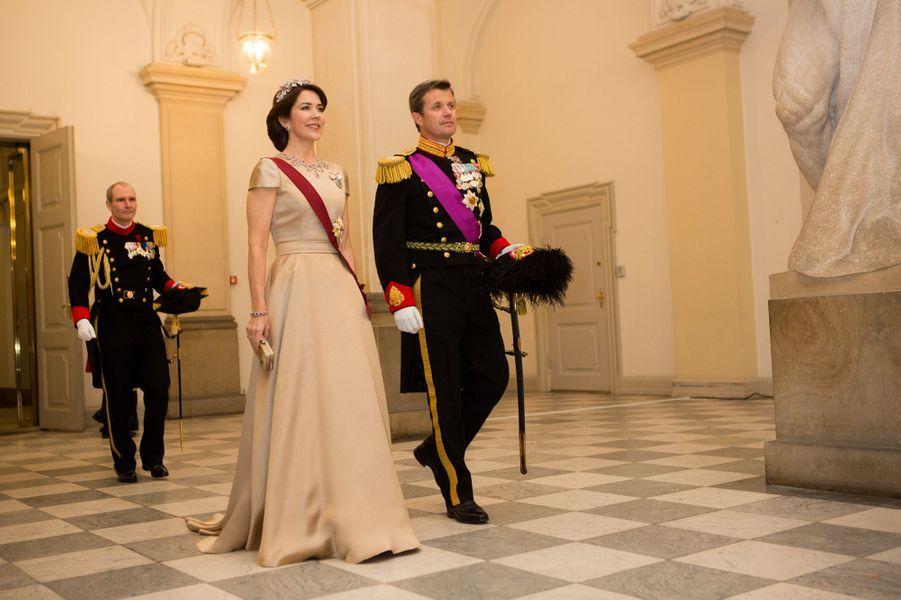 La princesse Mary et le prince Frederik de Danemark à Copenhague, le 28 mars 2017