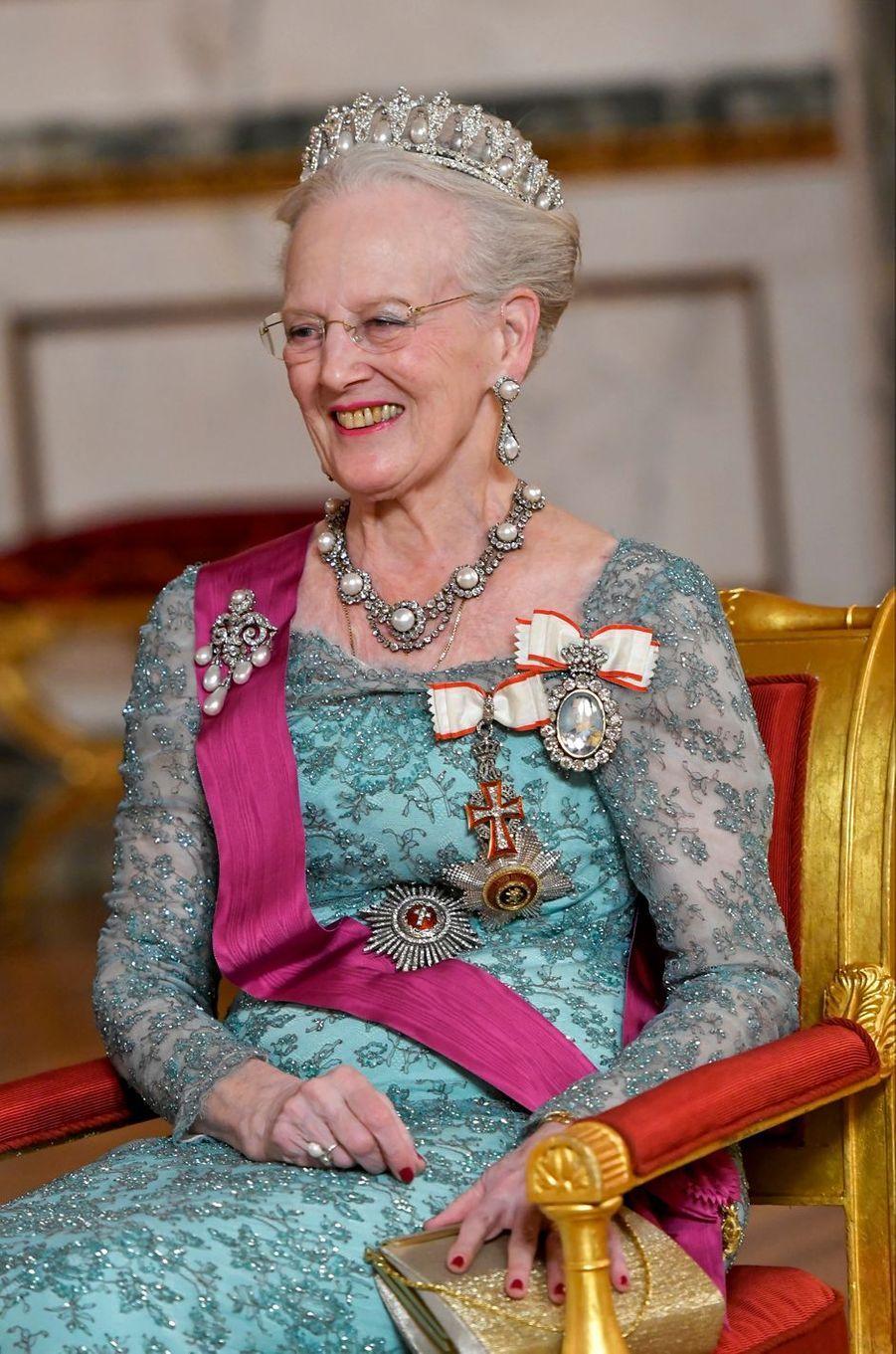 La reine Margrethe II de Danemark à Copenhague, le 28 mars 2017