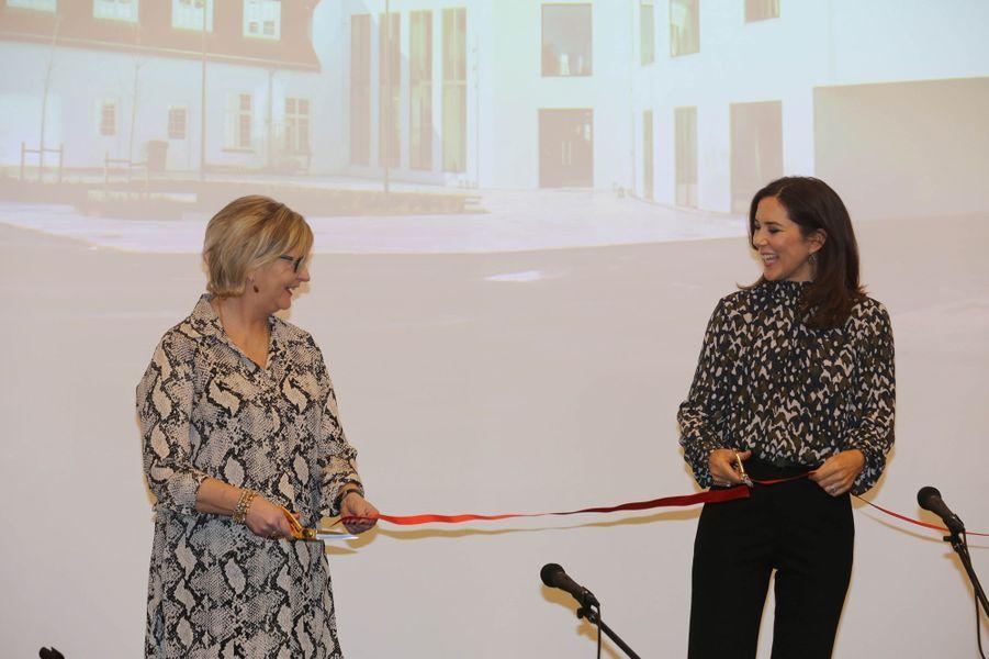 La princesse Mary de Danemark inaugure une maison d'enfants et adolescents à Roskilde, le 12 janvier 2018