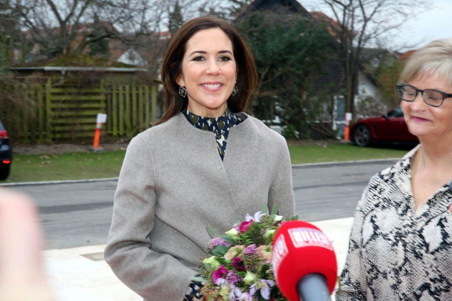 La princesse Mary de Danemark le 12 janvier 2018 à Roskilde