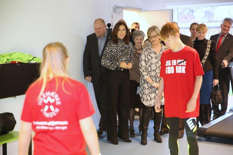 La princesse Mary de Danemark à Roskilde, le 12 janvier 2018