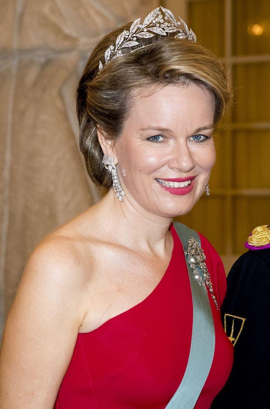 La reine Mathilde de Belgique à Copenhague, le 26 mai 2018