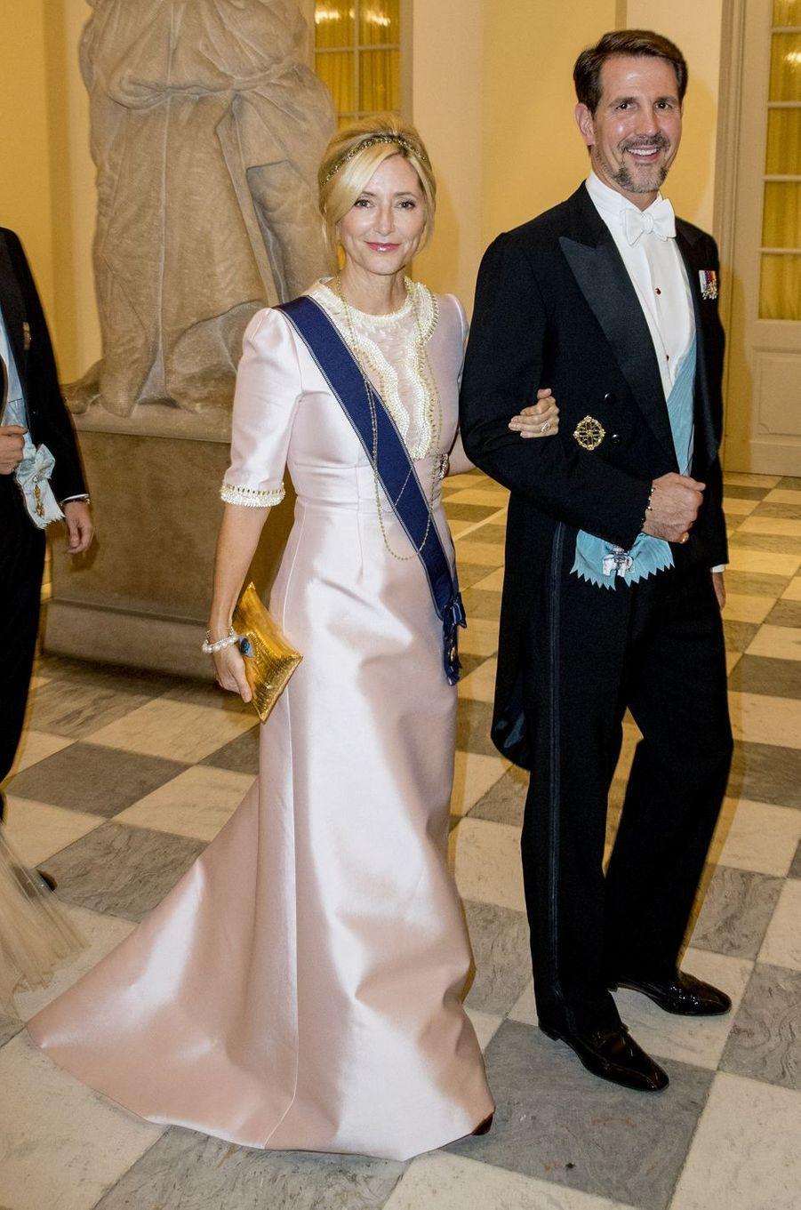 La princesse Marie-Chantal et le prince Pavlos de Grèce à Copenhague, le 26 mai 2018