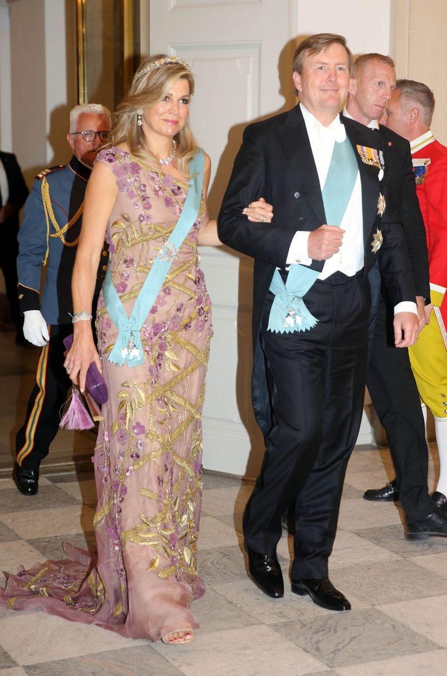 La reine Maxima et le roi Willem-Alexander des Pays-Bas à Copenhague, le 26 mai 2018