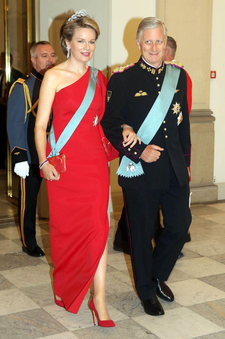La reine Mathilde et le roi Philippe de Belgique à Copenhague, le 26 mai 2018
