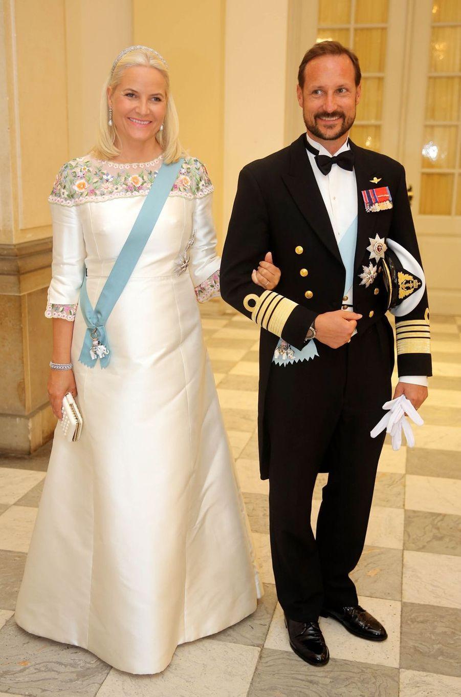 La princesse Mette-Marit et le prince Haakon de Norvège à Copenhague, le 26 mai 2018
