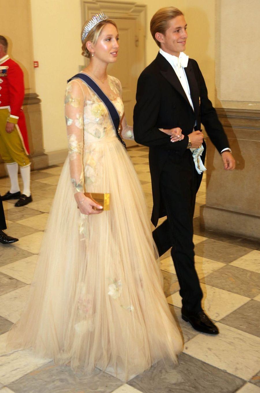 La princesse Maria-Olympia de Grèce et son frère le prince Constantinos Alexios à Copenhague, le 26 mai 2018