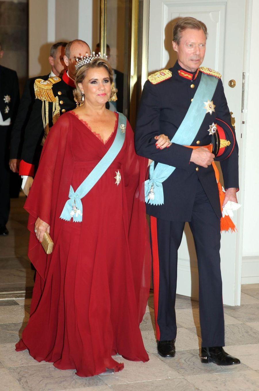 La grande-duchesse Maria Teresa et le grand-duc Henri de Luxembourg à Copenhague, le 26 mai 2018