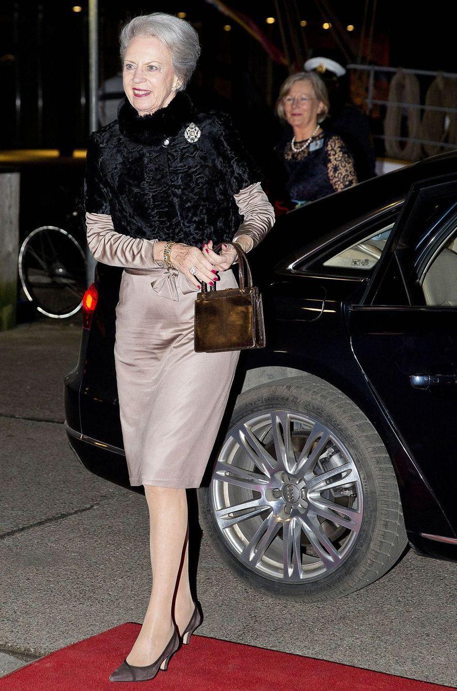 La princesse Benedikte de Danemark à Copenhague, le 25 janvier 2017