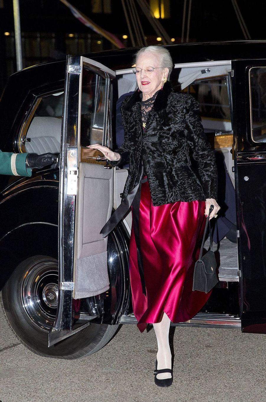 La reine Margrethe II de Danemark à Copenhague, le 25 janvier 2017