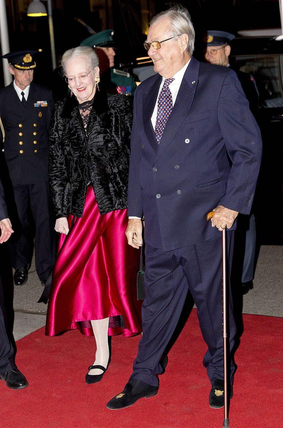 La reine Margrethe II et le prince Henrik de Danemark à Copenhague, le 25 janvier 2017
