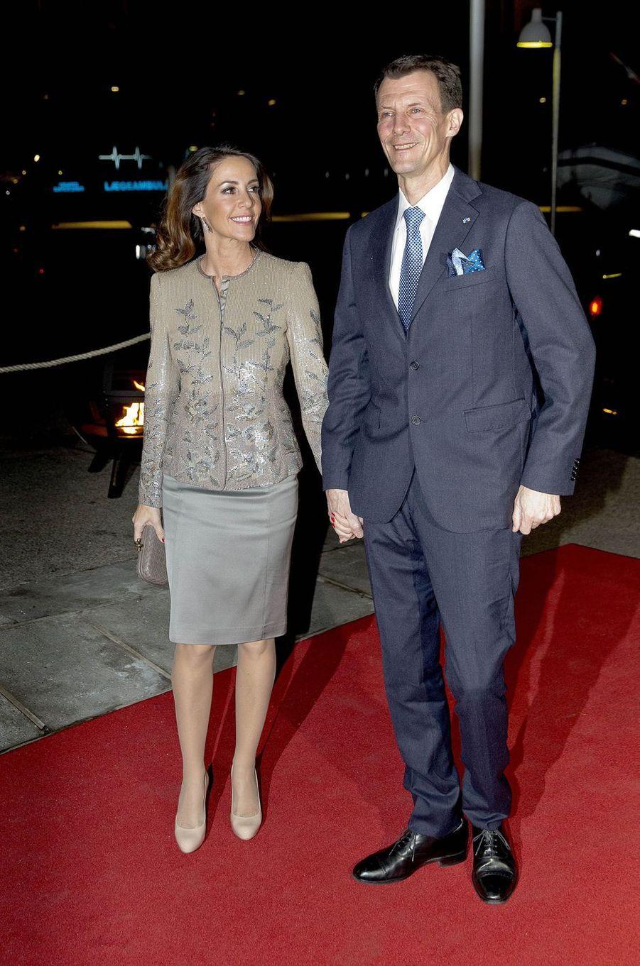La princesse Marie et le prince Joachim de Danemark à Copenhague, le 25 janvier 2017