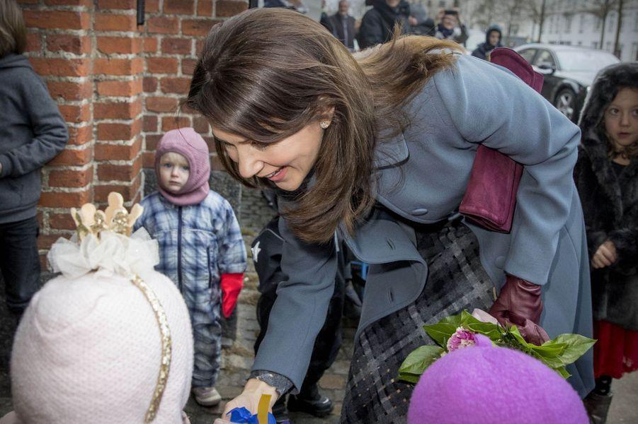 La princesse Mary de Danemark à Copenhague, le 25 janvier 2017