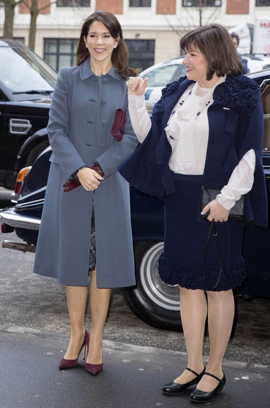 La princesse Mary de Danemark avec la Première Dame d'Islande à Copenhague, le 25 janvier 2017