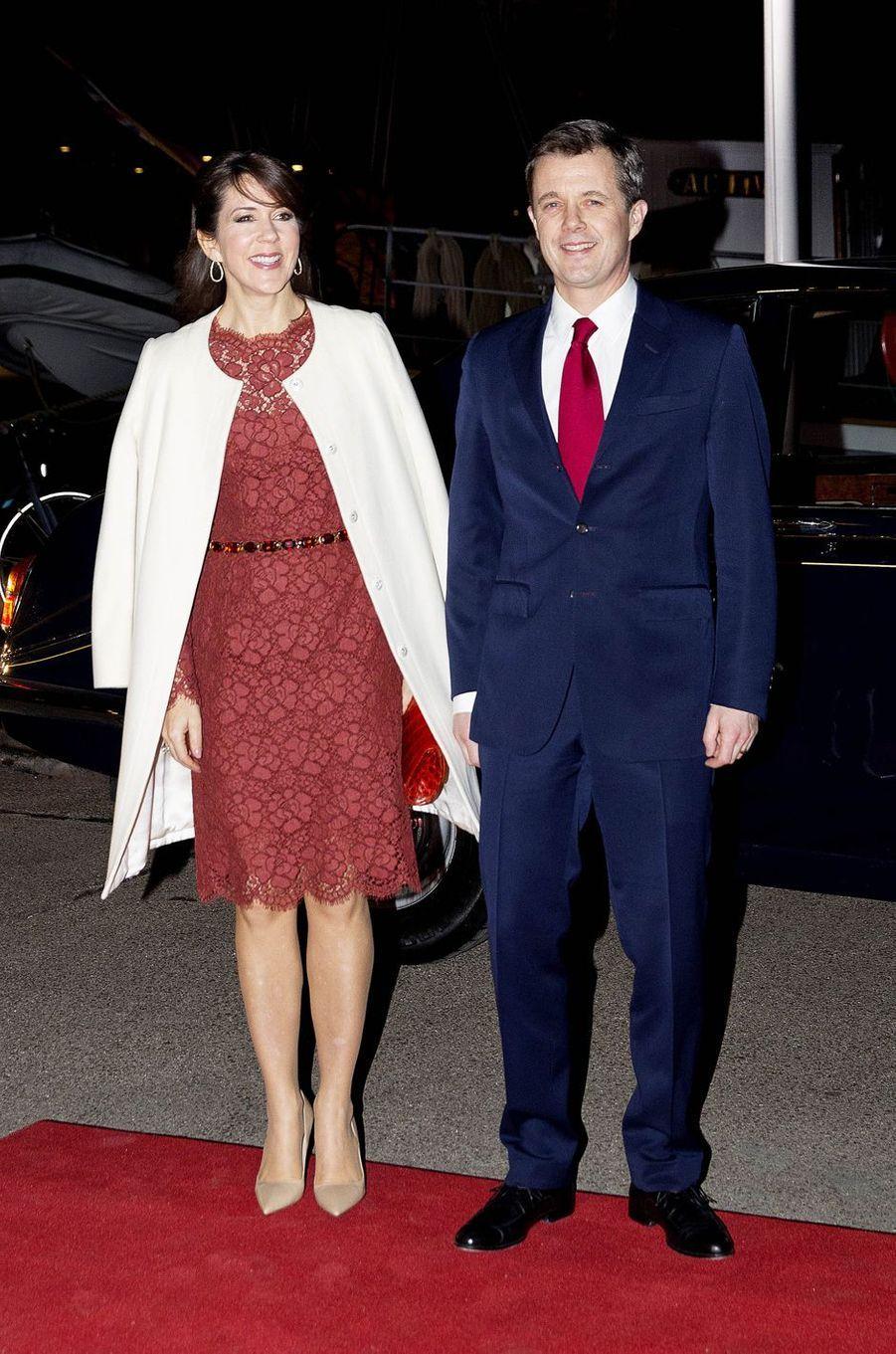 La princesse Mary et le prince Frederik de Danemark à Copenhague, le 25 janvier 2017