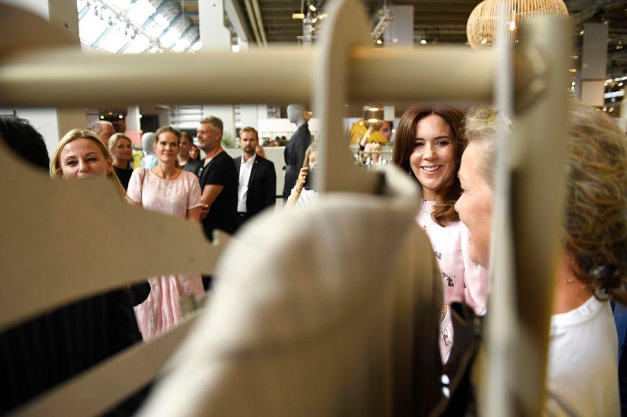 La princesse Mary de Danemark à la Fashion Week à Copenhague, le 8 août 2018