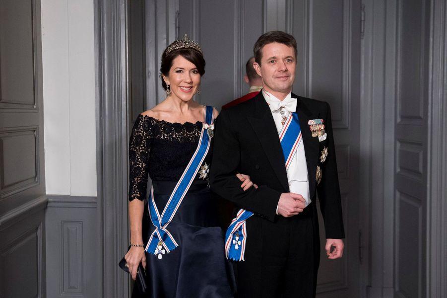 La princesse Mary et le prince Frederik de Danemark à Copenhague, le 24 janvier 2017