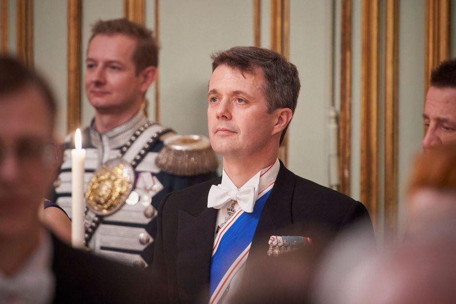 Le prince héritier Frederik de Danemark au Palais d'Amalienborg à Copenhague, le 24 janvier 2017