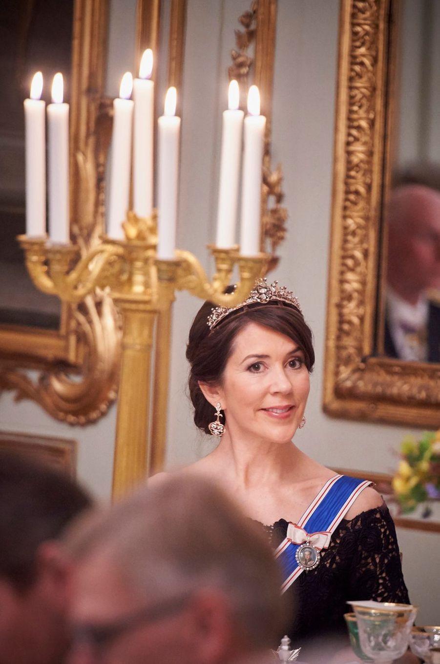 La princesse Mary de Danemark au Palais d'Amalienborg à Copenhague, le 24 janvier 2017