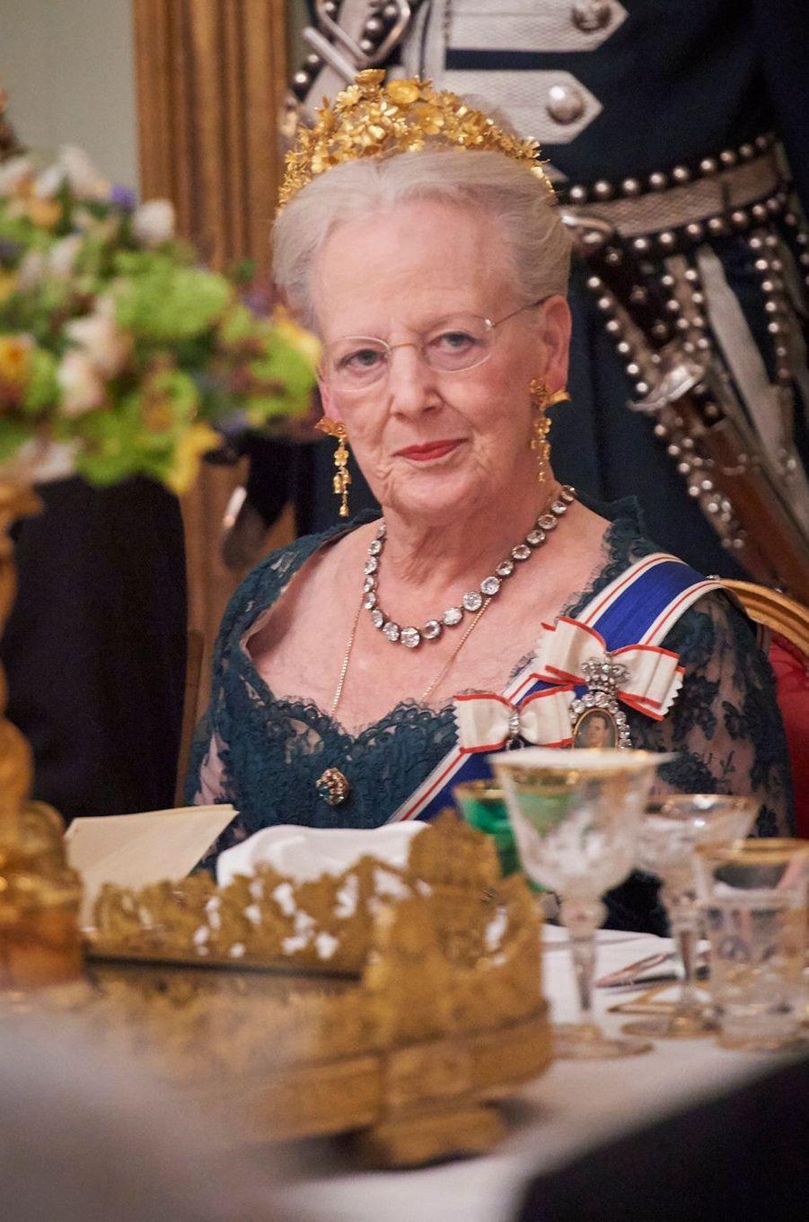 La reine Margrethe II de Danemark au Palais d'Amalienborg à Copenhague, le 24 janvier 2017