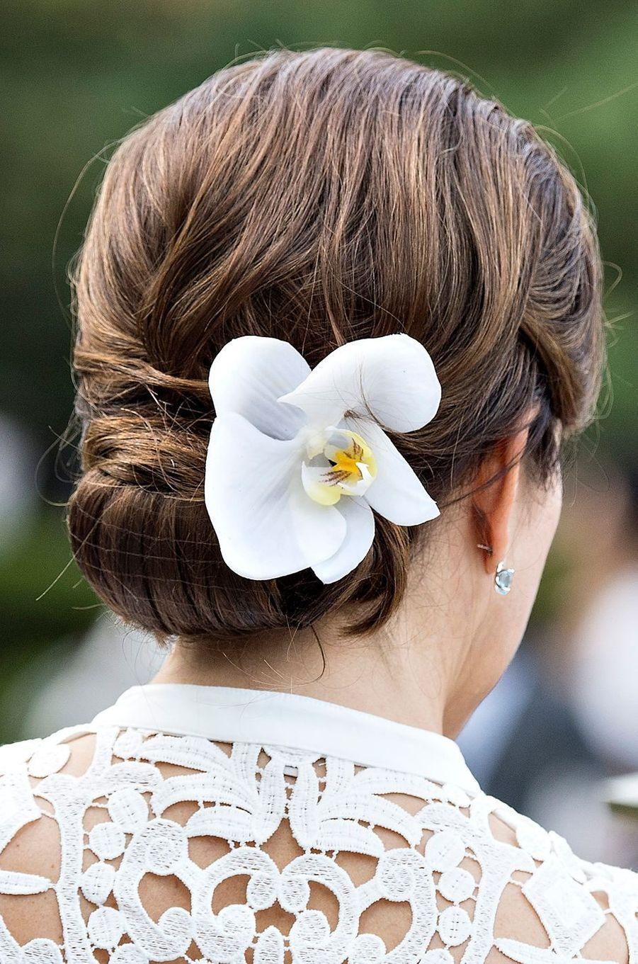 La coiffure de la princesse Mary de Danemark au Japon, le 9 octobre 2017