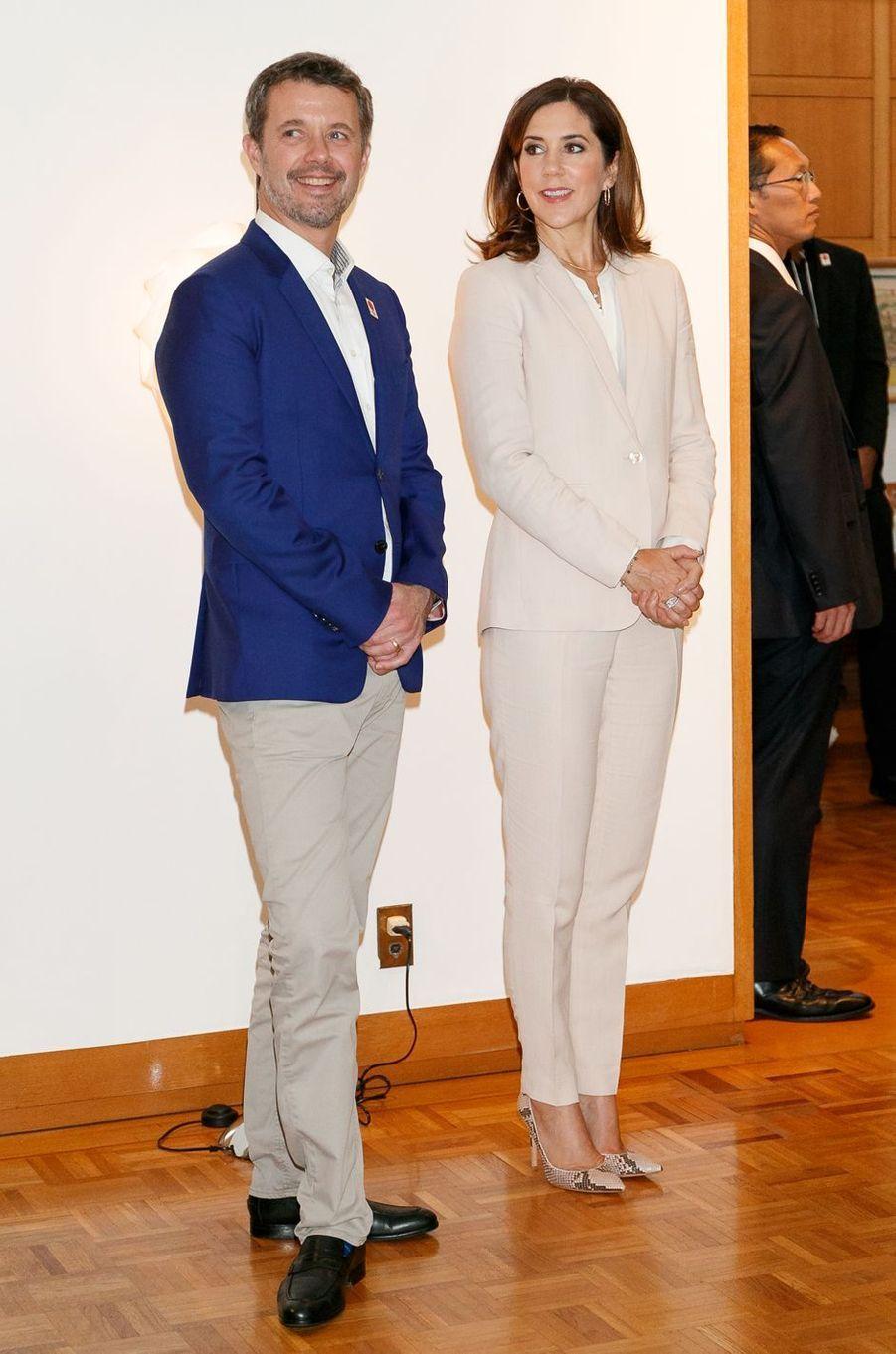 Le prince Frederik et la princesse Mary de Danemark à Tokyo, le 12 octobre 2017
