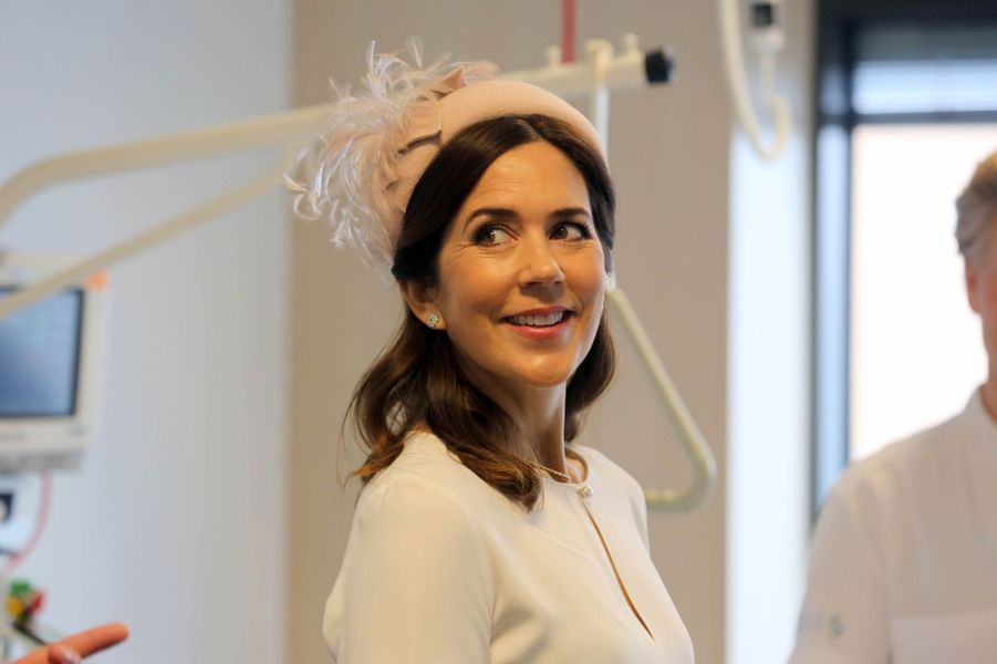 La princesse Mary de Danemark à Slagelse, le 17 avril 2018