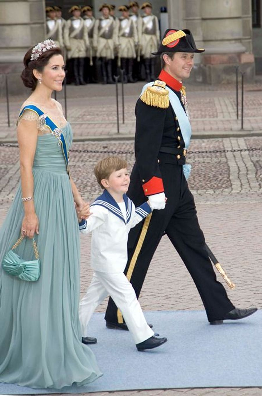 Le prince Christian de Danemark avec ses parents le 19 juin 2010