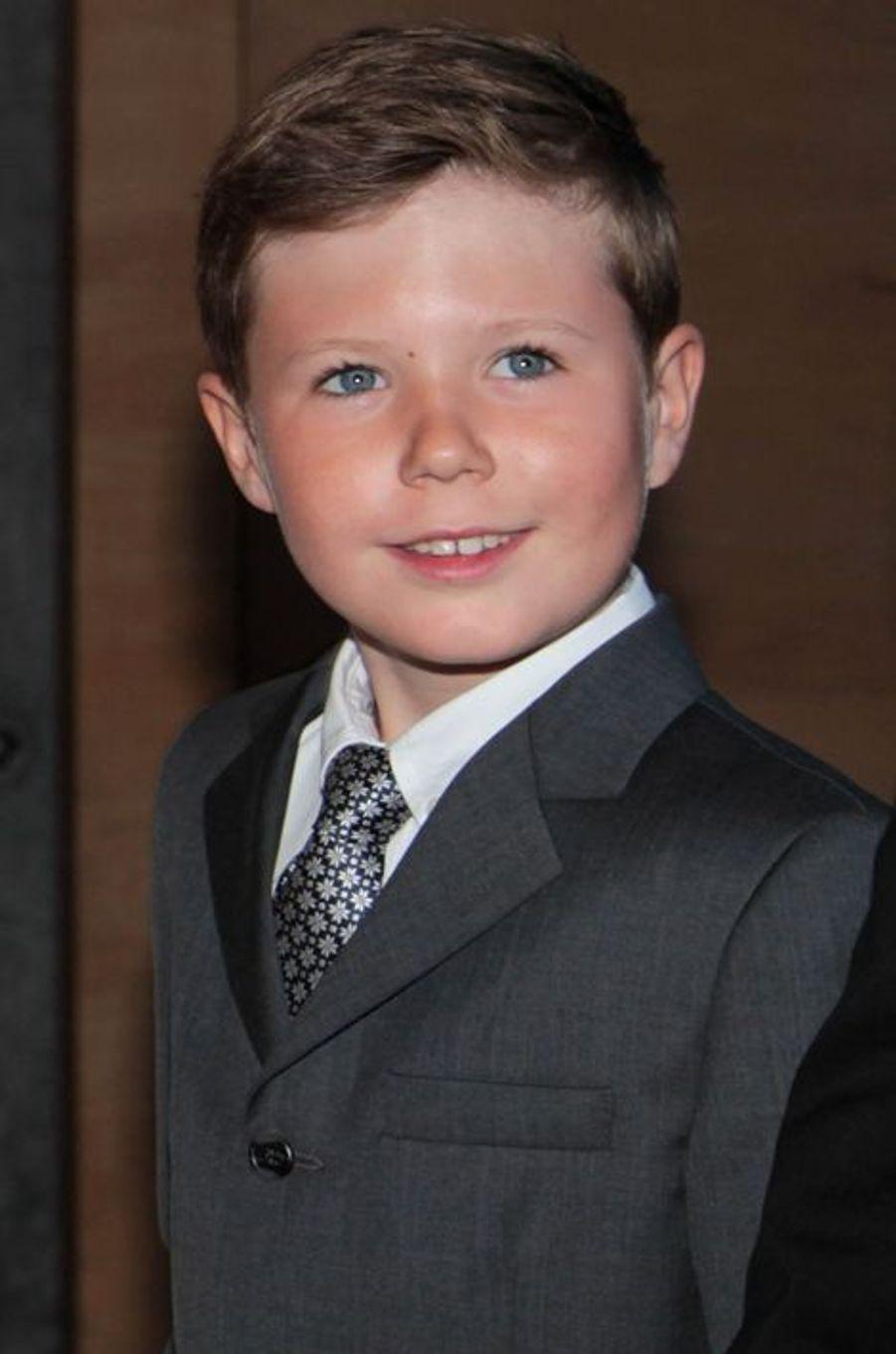 Le prince Christian de Danemark le 1er juin 2014