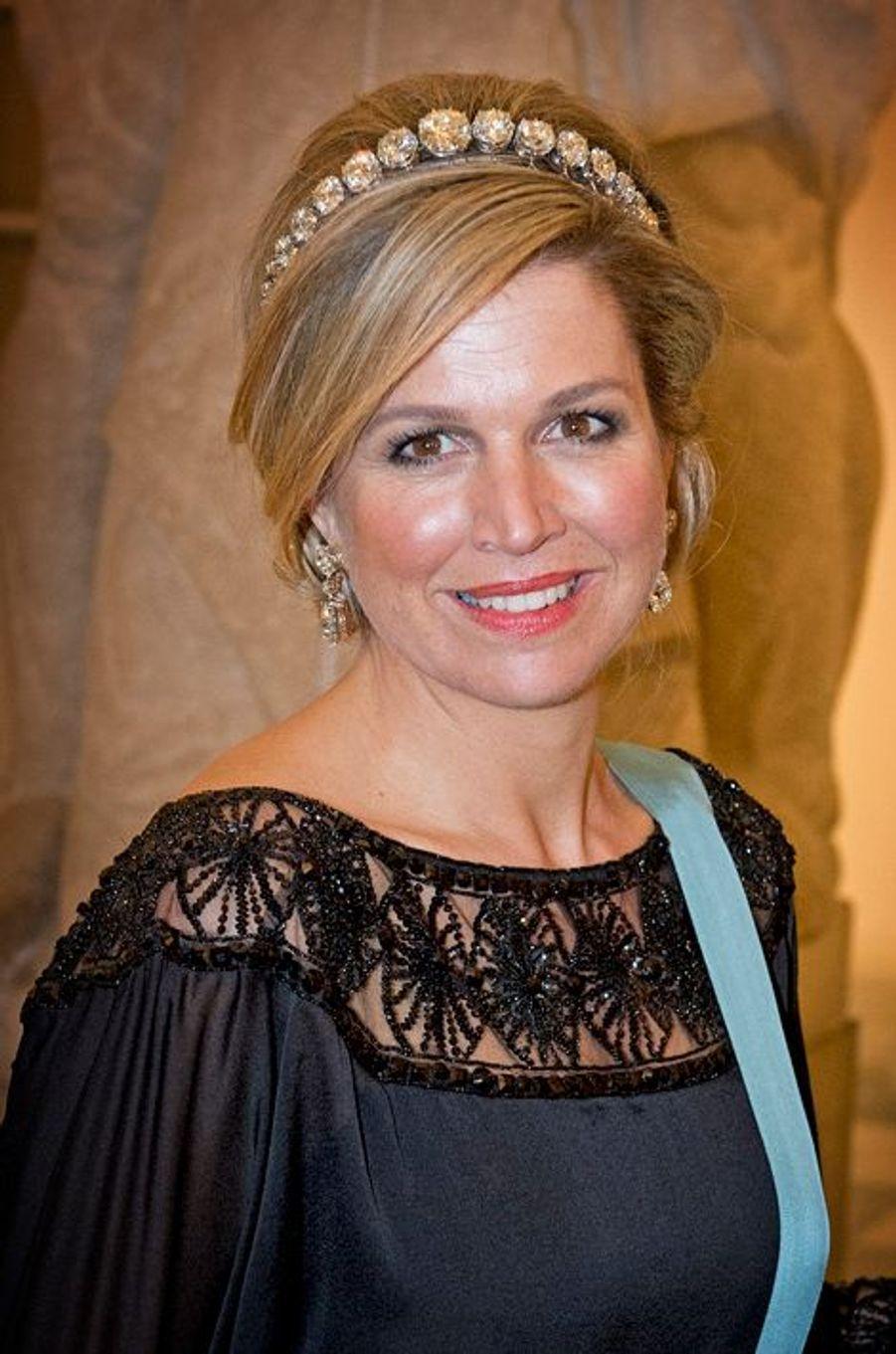 La reine Maxima des Pays-Bas à Copenhague, le 15 avril 2015
