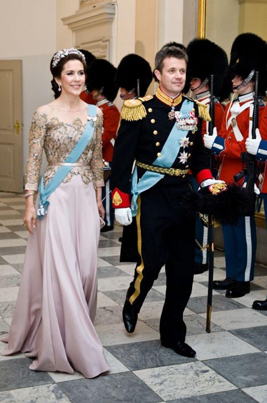 Le prince Frederik et la princesse Mary de Danemark à Copenhague, le 15 avril 2015