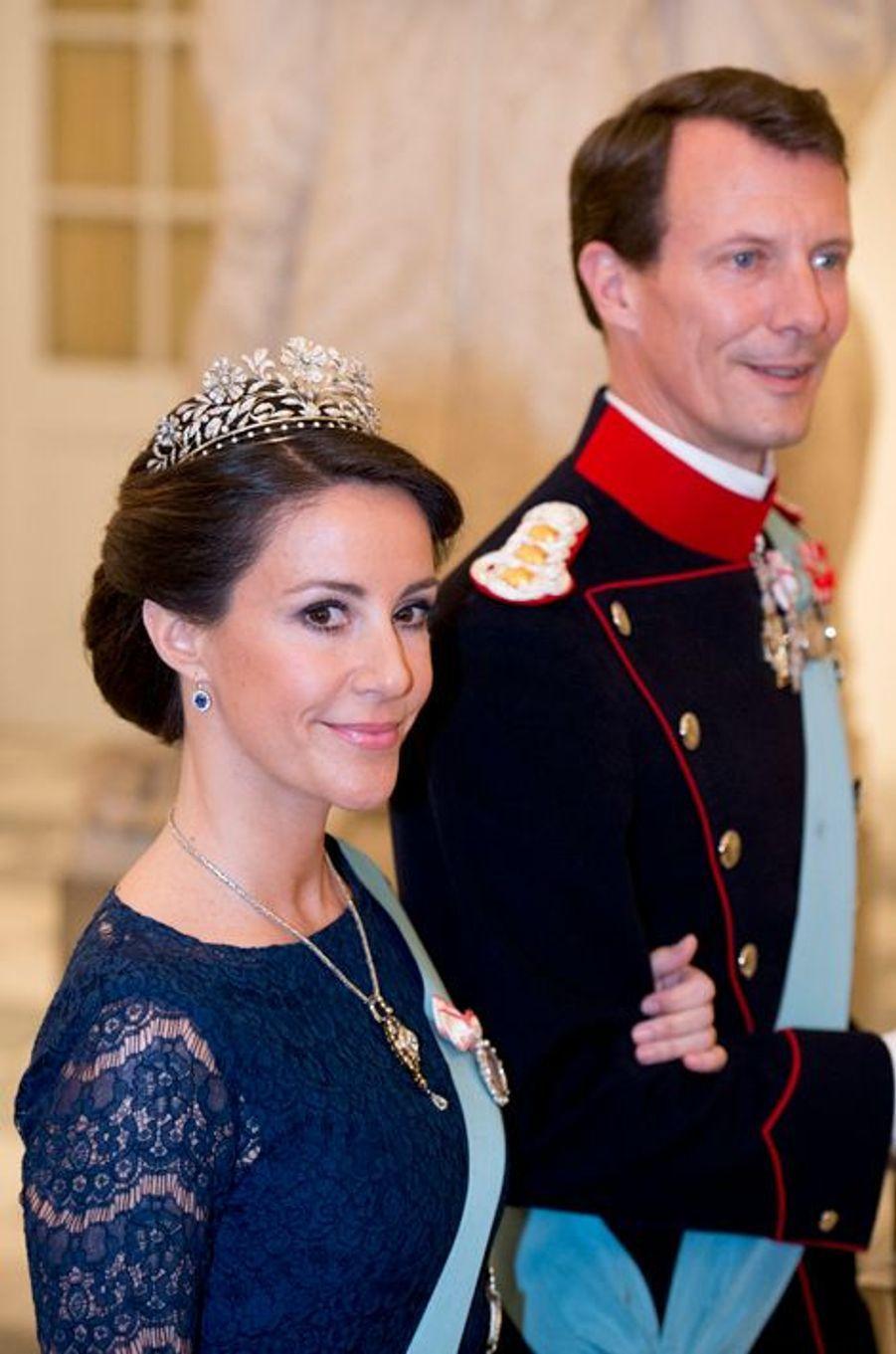 Le prince Joachim et la princesse Marie de Danemark à Copenhague, le 15 avril 2015