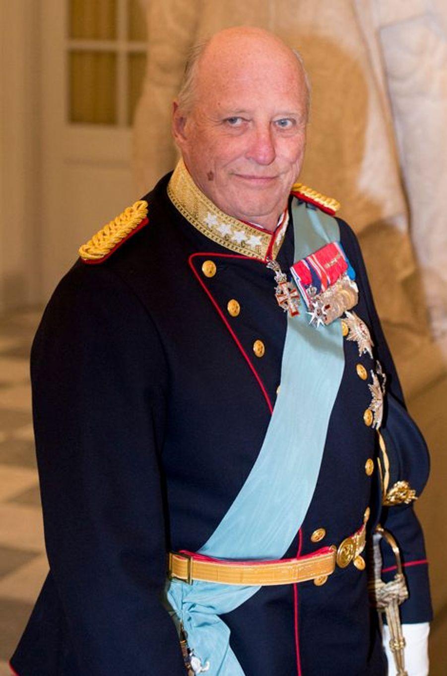 Le roi Harald V de Norvège à Copenhague, le 15 avril 2015