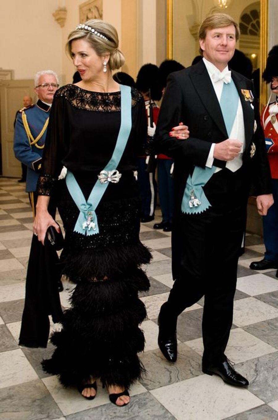 Le roi Willem-Alexander des Pays-Bas et la reine Maxima à Copenhague, le 15 avril 2015