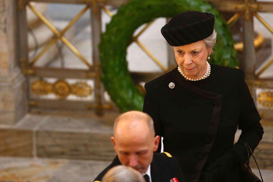 La princesse Benedikte de Danemark, soeur de la reine Margrethe II, à Copenhague le 20 février 2018