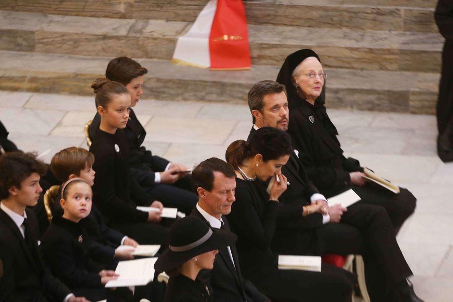 La reine Margrethe II, ses fils, ses belles-filles et certains de ses petits-enfants à Copenhague le 20 février 2018