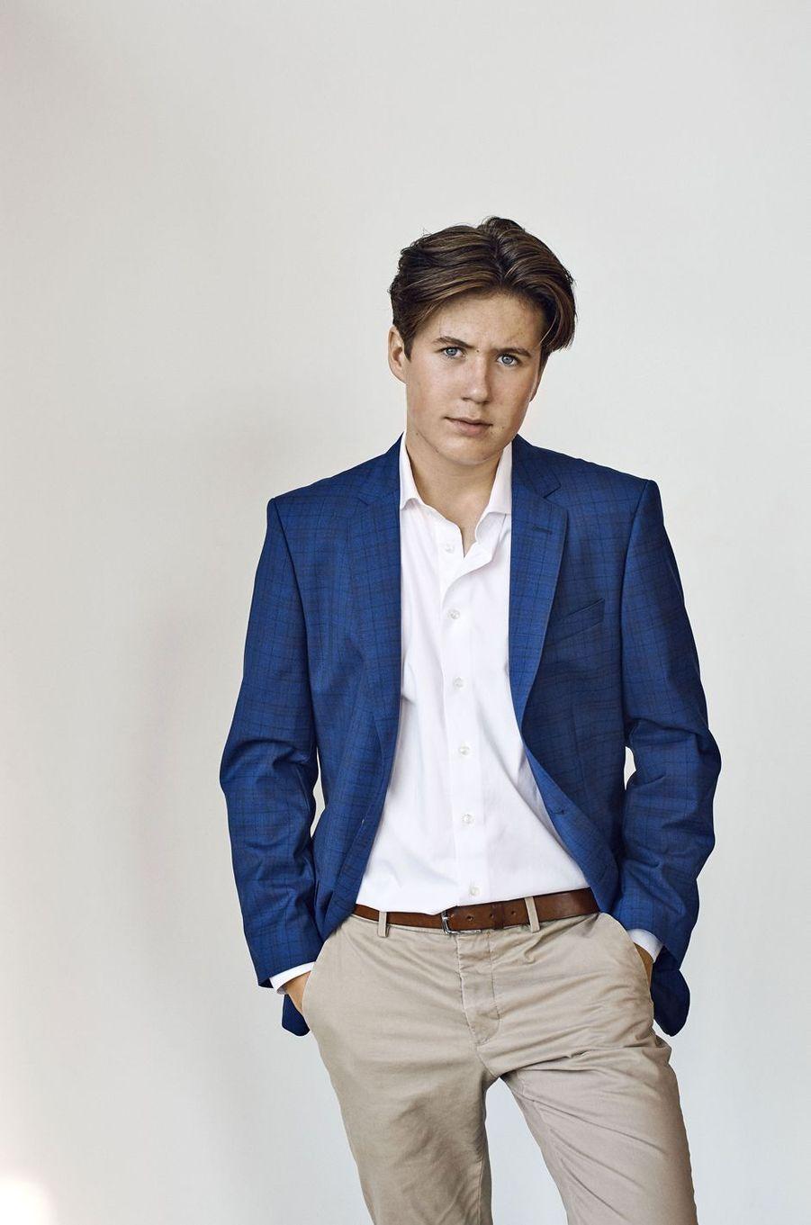 Le prince Christian de Danemark. L'un des quatre portraits diffusés le 15 octobre 2020 pour ses 15 ans