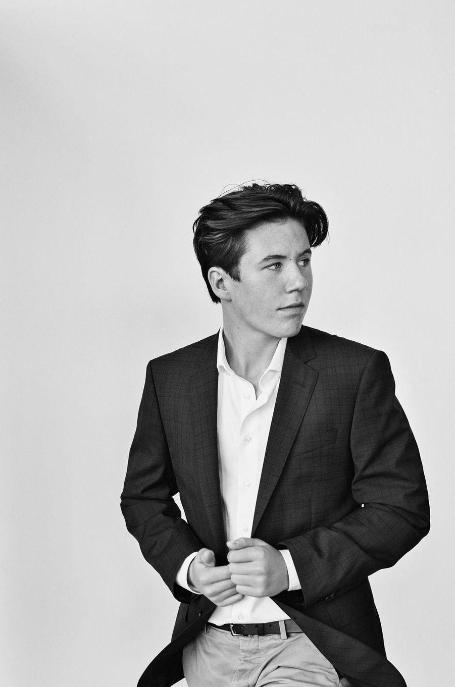 Le prince Christian de Danemark. L'un des portraits diffusés le 15 octobre 2020 pour son 15e anniversaire