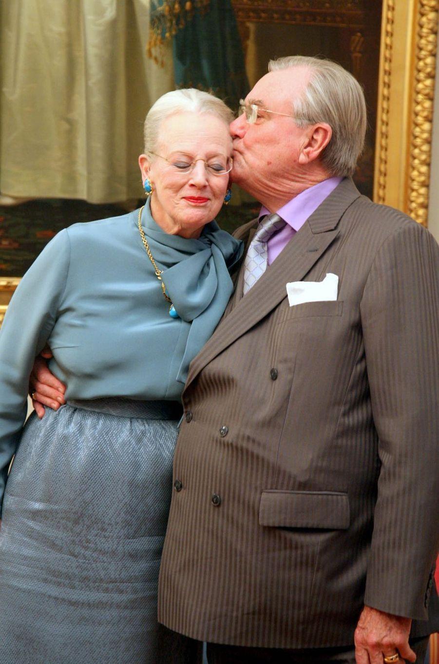 Le prince Henrik de Danemark avec la reine Margrethe II, le 14 janvier 2012