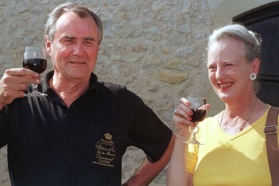 Le prince Henrik de Danemark avec la reine Margrethe II, le 16 septembre 1997
