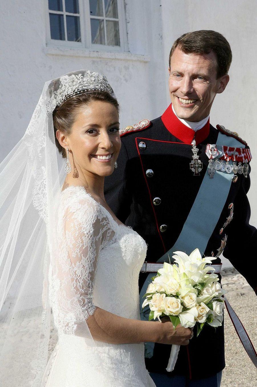 La princesse Marie et le prince Joachim de Danemark le 24 mai 2008, jour de leur mariage